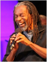 Bobby McFerrin at sound check, Adelphi University. Photo by Adam McCullough