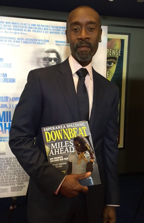 DonCheadle with his copy of DB