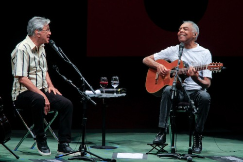 April 20, 2016 Brooklyn, NY ;  Caetano Veloso and Gilberto Gil in concert - Two Friends, One Century of Music at BAM's Howard Gilman Opera House on 4/20/2016. Photo ; Rahav Segev/ Photopass.com / BAM