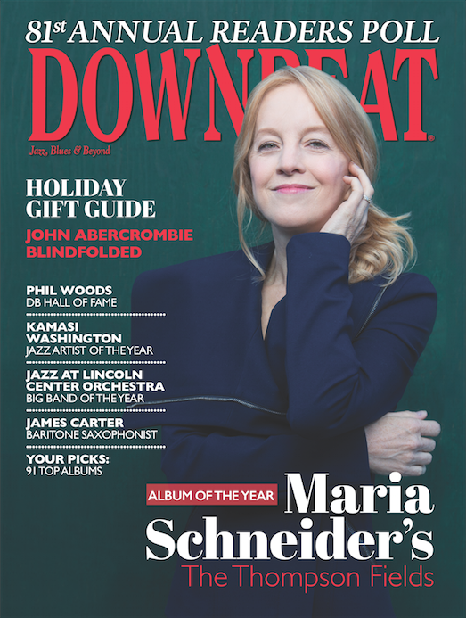 "Maria Schneider Profile/Interview (DownBeat, 12/16 Cover Story) DownBeat Readers Named ""The Thompson Fields"" Album of the Year in 2016 Readers Poll"